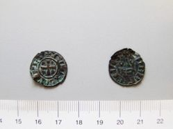Billon denier of William I from Athens