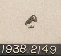Copper Alloy Leaf-Shaped Pendant or Pierced Bronze Strap Ornament Decoration (?)
