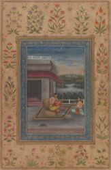 Ragini Dhanasri, from a Garland of Musical Modes (Ragamala) manuscript
