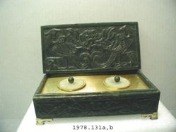 Box with Two Inkwells