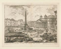 Veduta della Piazza della Rotonda (View of the Piazza della Rotonda), from Vedute di Roma