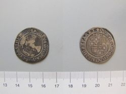 Silver sixpence piece of James I from London