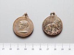Silver Medal from Belgium of Liège Waelhem Nieuport 1914