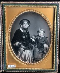 Untitled [Mother and son, Root's studio, 363 Broadway, New York City]