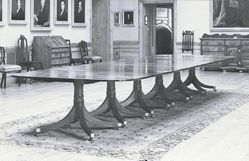 Six-part Pedestal Dining Table