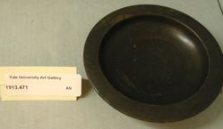 Black-glazed plate