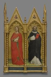 Saints Agnes and Dominic and Two Evangelists