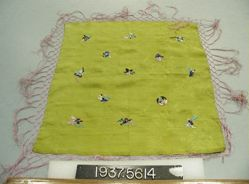 Handkerchief of embroidered fancy cloth