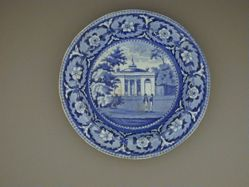 Soup Plate with a view of Philadelphia, Staughton's Church
