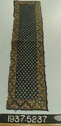 Length of embroidered filet