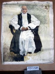 Figure Study of Bishop William White, for The Apotheosis of Pennsylvania, House of Representatives Chamber, Pennsylvania State Capitol, Harrisburg