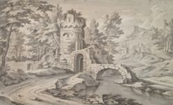 Italianate Landscape with Tower and Ruined Bridge