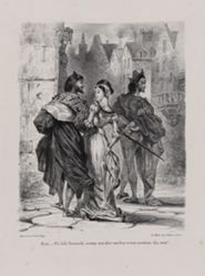 Faust cherchant à séduire Marguerite (Faust Seeking to Seduce Marguerite), from Johann Wolfgang von Goethe's Faust