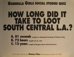 How long did it take to loot South Central L.A.?, from the Guerrilla Girls' Compleat 1985-2008