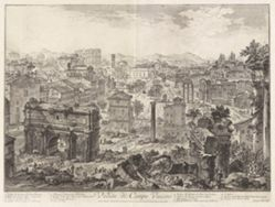 Veduta di Campo Vaccino (View of the Campo Vaccino [the Forum Romanum, from the Capitoline Hill]), from Vedute di Roma (Views of Rome)