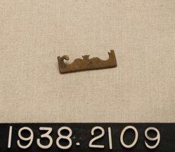 Pierced copper alloy baldric pendant (?)