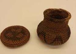 Miniature Lidded Basket