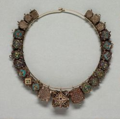 Necklace with Multiple Amulets
