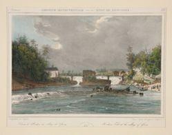 Hudson Falls at the village of Gleens. no. 22