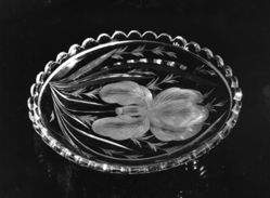 "Dish, ""Satin Iris"" pattern"