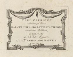 Title Page, from Vari capricci (Various Capriccios)