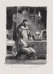 Faust dans son cabinet (Faust in His Study), from Johann Wolfgang von Goethe's Faust
