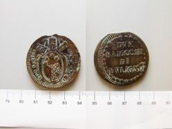 2 Baiocchi of Pope Pius VI from Foligno