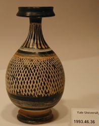 Gnathian ware bottle