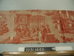 """Length of printed cotton, """"Judgment of Clara"""""""