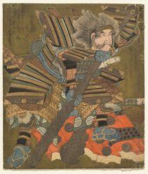 Asahina Storming the Gate (Asahina mon yaburi), from the series Three Stormings (Haitatsu sanban)