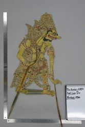 Shadow Puppet (Wayang Kulit) of Rahwana, from the set Kyai Drajat