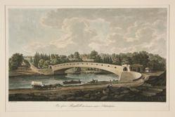 Covered Bridge, Schuylkill River, Philadelphia (Bro ofver Skuylkill strommen nara Philadelphia)