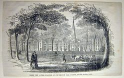Gleason's Pictoral View of Yale from the North East