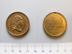 Brass Soldier' s medal -George Washington