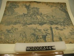 """Length of printed cotton, """"Hunting Scenes"""""""