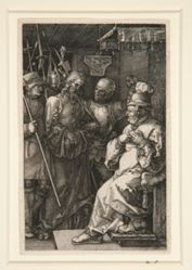 Christ before Caiaphas, from The Engraved Passion