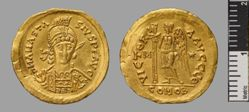 Solidus of Theoderic in the name of Anastasius