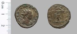 Antoninianus of Valerian, Emperor of Rome from Lugdunum