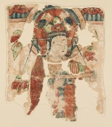 Fragment of a Banner with Female Donors