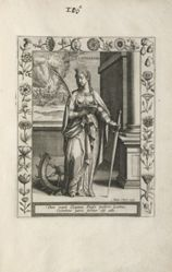 Saint Catherine, 1 of 25 plates from the series  Martyrologium Sanctarum Virginum (Female Martyr Saints)
