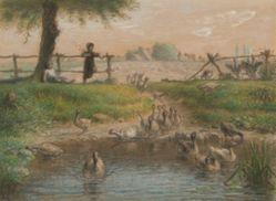 Peasant Children at Goose Pond