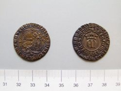 Silver real of Henry II from Seville