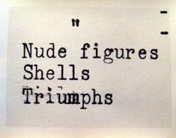 Untitled (Nude Figures, Shells, Triumphs)
