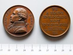 Bronze Medal from France Commemorating Gaspard Monge (1745-1818)