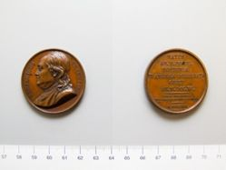Bronze medal of Benjamin Franklin