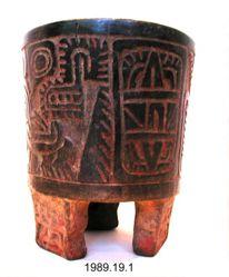 Teotihuacan style tripod vessel