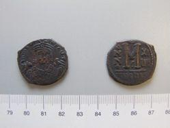 Follis (40-nummi) of Maurice Tiberius from Antioch