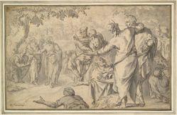 The preaching of St. John the Baptist