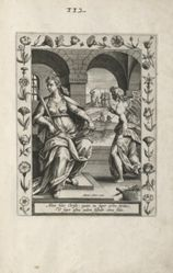 Saint Juliana, 1 of 25 plates from the series Martyrologium Sanctarum Virginum (Female Martyr Saints)