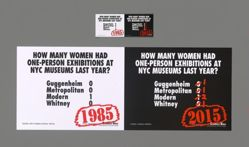 How Many Women Had Solo Shows at NYC Museums? Recount, from the Guerrilla Girls' Portfolio Compleat 2012–2016 Upgrade
